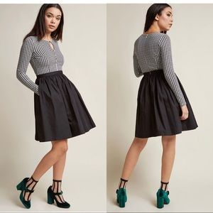 ModCloth houndstooth Black & White Dress